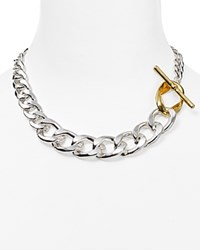 Lauren Ralph Lauren Retro Links Necklace 16 Two Tone