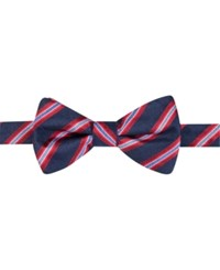 Countess Mara Men's Eugene Reversible Stripe Dot Pre Tied Bow Tie Red