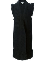 Temperley London Long Sleeveless Cardigan Black