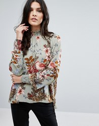 Y.A.S Ilvaly Highneck Top Seagrass Multi