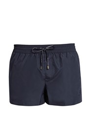 Dolce And Gabbana Crown Embroidered Swim Shorts Navy