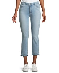 7 For All Mankind Straight Leg Cropped Released Hem Jeans Blue