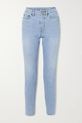 Saint Laurent High Rise Straight Leg Jeans Blue