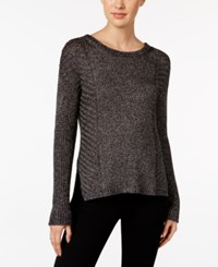 Calvin Klein Jeans Ribbed Sweater Black Crackle