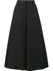 Valentino Cropped Wide Leg Trousers Black