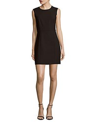 Elizabeth And James Solid Back Cutout Sleeveless Dress Black