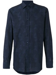 Etro Paisley Embroidered Shirt Blue