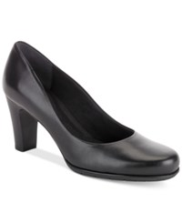 Rockport Women's Total Motion Round Toe Pumps Women's Shoes Black