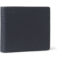 Alfred Dunhill Chassis Textured Leather Billfold Wallet Blue