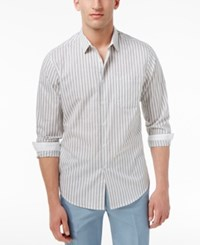 Inc International Concepts Men's Striped Cotton Shirt Only At Macy's White Combo