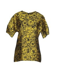 Lela Rose Shirts Blouses Women Yellow