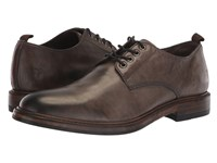 Frye Murray Oxford Grey Washed Dip Dye Leather Shoes Gray