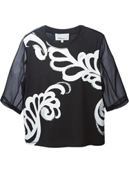 3.1 Phillip Lim Fern Print T Shirt Black