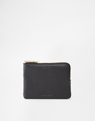 Whistles Leather Coin Purse In Black Blacklamb