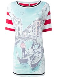 Antonio Marras Venice Motif Shortsleeved Knit Top Multicolour