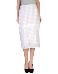 Richard Nicoll Skirts 3 4 Length Skirts Women White