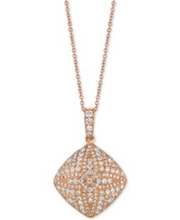 Le Vian Diamond Pave 18 Pendant Necklace 9 10 Ct. T.W. In 18K Rose Gold Yellow Gold