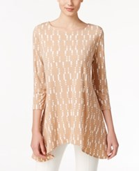 Alfani Printed Swing Top Only At Macy's Camel