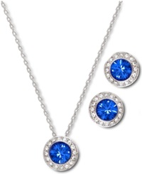 Swarovski Jewelry Set Angelic Sapphire Earrings And Pendant Set