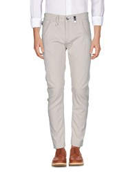 High Casual Pants Beige