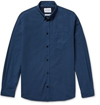 Norse Projects Anton Slim Fit Garment Dyed Cotton Poplin Shirt Storm Blue