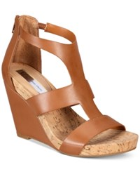 Inc International Concepts Women's Lilbeth Wedge Sandals Only At Macy's Women's Shoes Golden Cognac