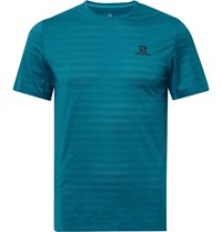 Salomon Xa Perforated Stretch Jersey T Shirt Blue