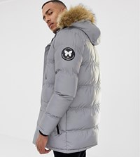 Good For Nothing Parka Coat In Reflective Exclusive To Asos Silver