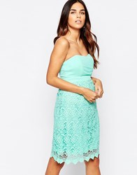 Traffic People Carry On Crochet Crusade Dress With Bandeau Top Blue