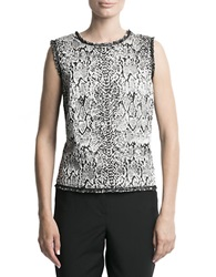 Pink Tartan Metallic Patterned Shell Black White