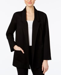 Alfani Open Front Ponte Jacket Only At Macy's Deep Black