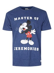 Topman Blue Navy Mickey Mouse T Shirt