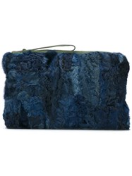 Mr And Mrs Italy Patchwork Clutch Blue