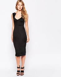 Daisy Street Pique Sports Dress With Contrast Collar Black