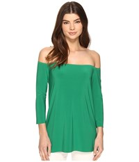Norma Kamali Off Shoulder Top Kelly Green Women's Clothing