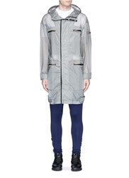 Merrill And Forbes Sheer Ripstop Hooded Parka Grey