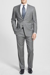 Hart Schaffner Marx 'New York' Classic Fit Wool Suit Gray