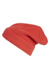 Women's Phase 3 'Stand Up' Basket Knit Slouchy Beanie Red Red Bittersweet