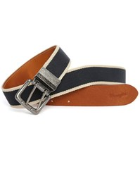 Wrangler Navy Cord And Beige Canevas Belt