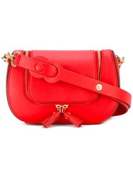 Anya Hindmarch Circulus Vere Satchel Women Calf Leather One Size Red