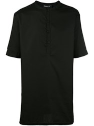 Numero00 Button Up Top Men Cotton Spandex Elastane Xl Black