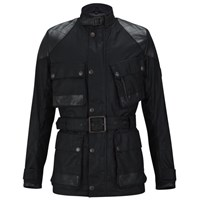 Knutsford Men's Wax Cotton Field Jacket With Detachable Inner Liner Black