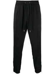 Dolce And Gabbana Elastic Waist Cropped Trousers Black