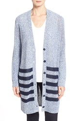 Women's Nordstrom Collection 'Glosso' Stripe Cardigan