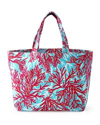 Coral Print Beach Tote Lilly Pulitzer Multi Colors