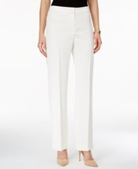 Kasper Pinstriped Straight Leg Pants Ivory Black