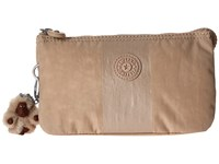 Kipling Creativity Cosmetic Gleaming Gold Metallic Stripe Cosmetic Case Beige