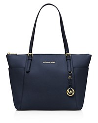 Michael Michael Kors Jet Set Large Top Zip Tote Navy Gold