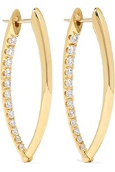 Melissa Kaye Cristina Medium 18 Karat Gold Diamond Earrings One Size
