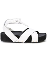 Stella Luna Wrapped Sandals White